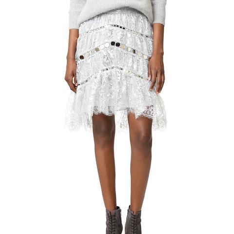 Adorn Crystal Lace Miniskirt