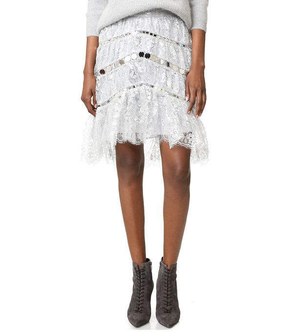 Adorn Crystal Lace Miniskirt Zimmermann