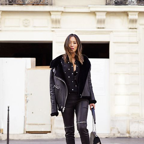 Double up on the leather to create an all-black look that's just the right amount of edgy.