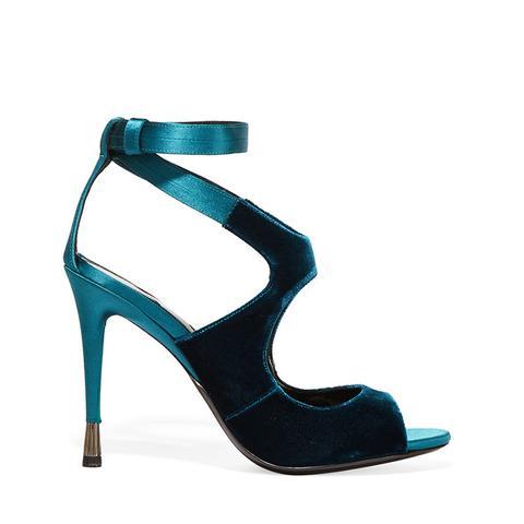 Velvet and Satin Sandals