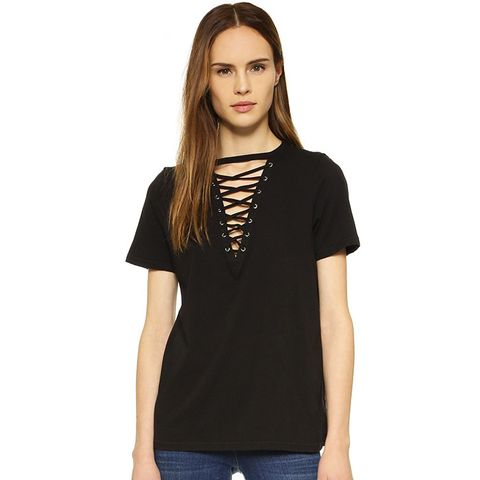 Lace Up Tee
