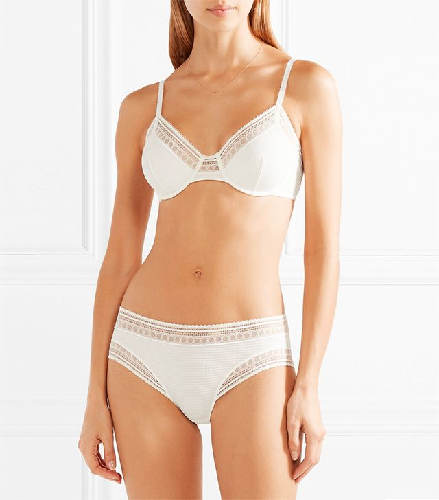 Eres Paroles Hip Hip Hip Stretch-Cloque and Leavers Lace Underwired Bra