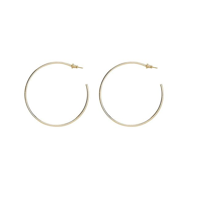 Sportsgirl Round and Round Gold Hoop Earrings