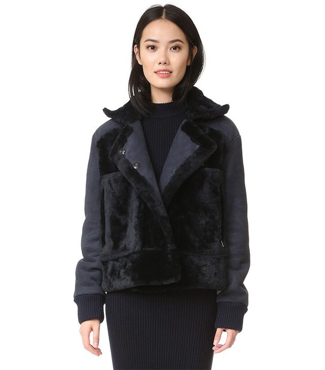 Tibi Shearling Aviator Jacket