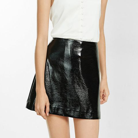 Crackle Patent A-Line Skirt