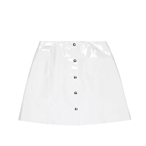 White Patent Leather Skirt