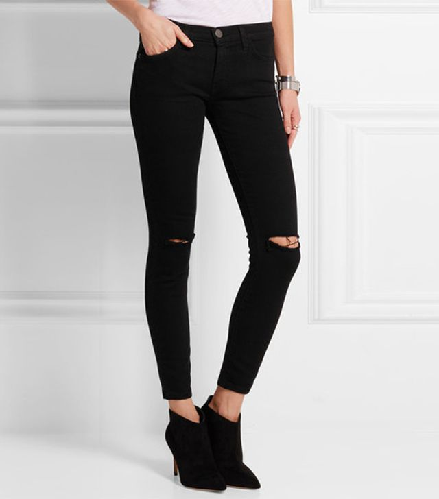 Current/Elliot The Stiletto  Distressed Skinny Jeans