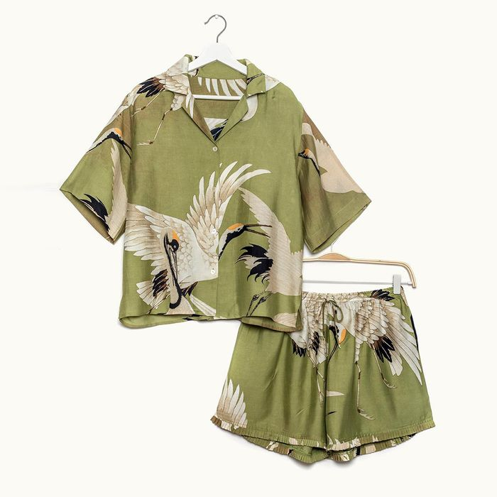 Christmas gifts for best friends: One Hundred Stars Stork Green Pyjama Set