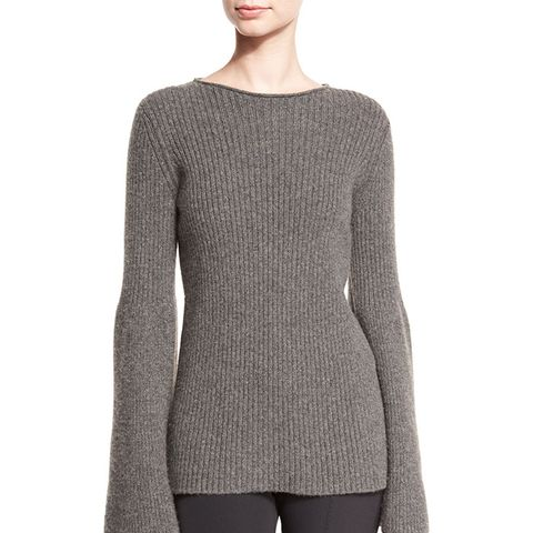 Atilia Ribbed Bell-Sleeve Sweater