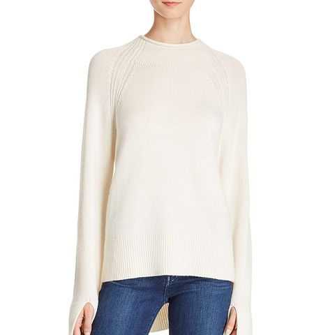 Karinella High/Low Cashmere Sweater