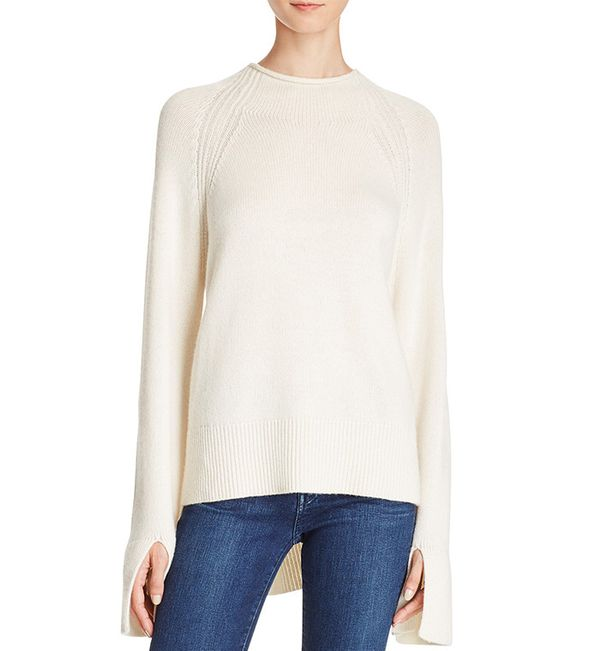 Theory Karinella High/Low Cashmere Sweater