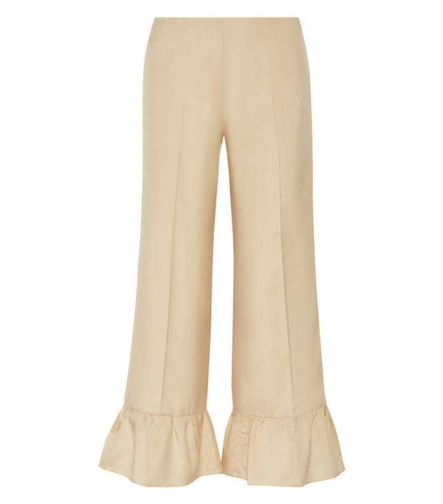 Gucci Ruffled Silk Flared Pants