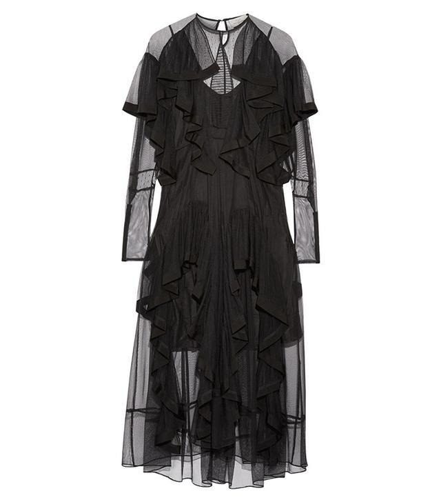 Preen By Thornton Bregazzi Idealla Ruffled Tulle Midi Dress
