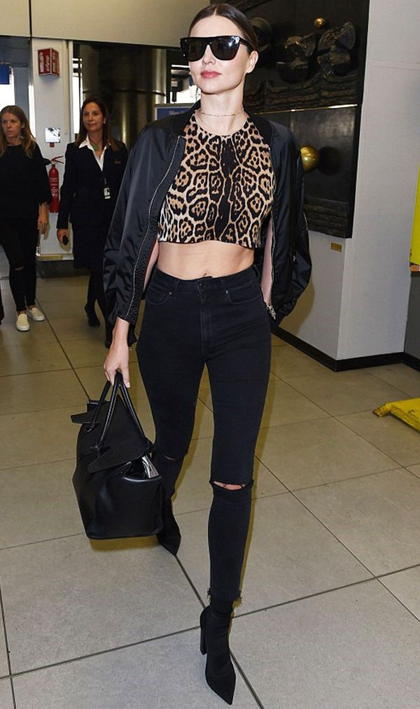 Miranda Kerr at the airport.