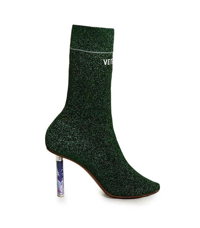 Vetements Unicorn-Heel Sock Ankle Boot
