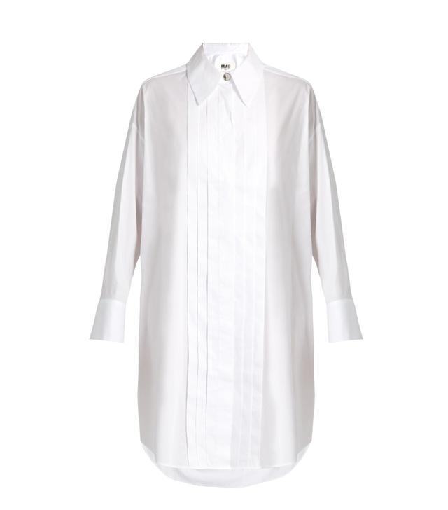 MM6 By Maison Margiela Tuxedo Long Sleeved Shirtdress