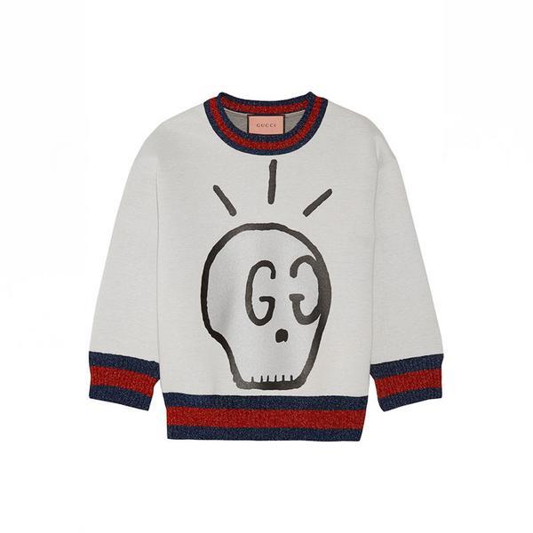 Gucci Metallic-Trimmed Printed Neoprene Sweatshirt