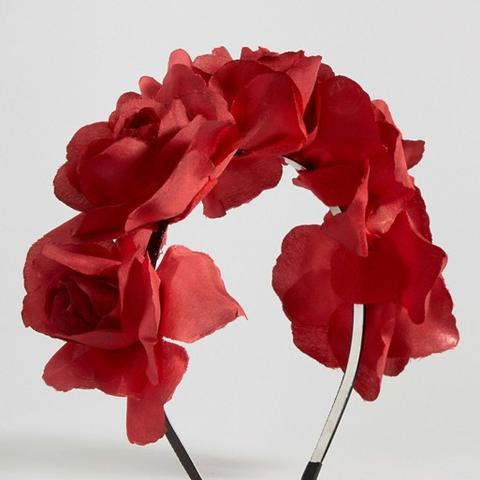 Midnight Rose Red Headband
