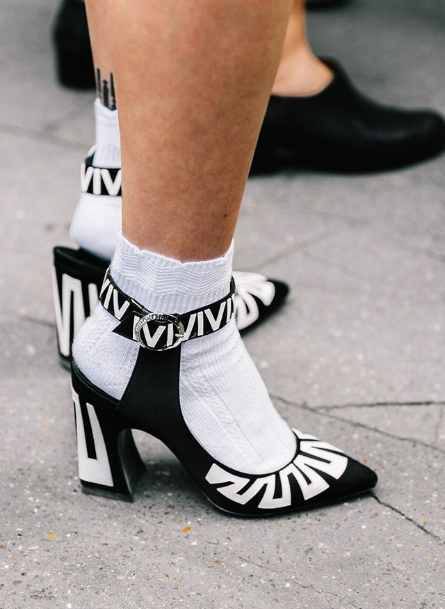Sock and shoe street style inspiration.