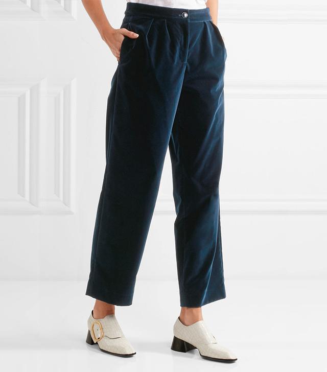 Vanessa Seward Acronyme Velvet Pants
