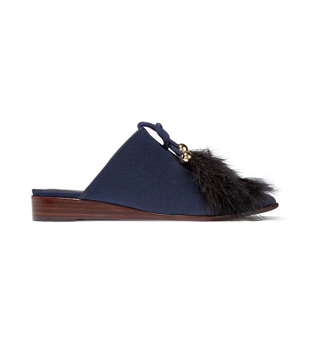 Tibi Sofie Satin Slippers