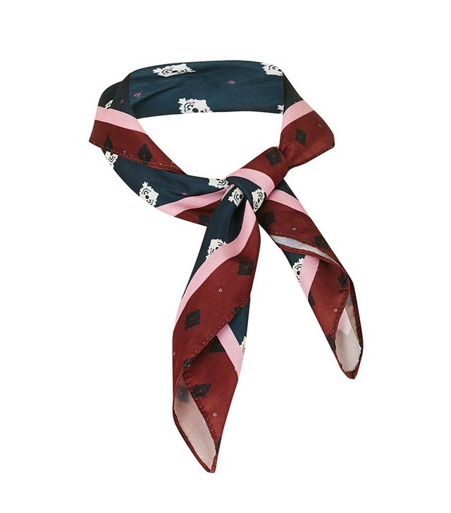 Topshop Stripe Print Neckerchief