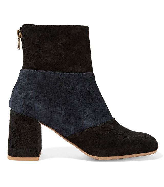 See by Chloé Mila Two-Tone Suede Ankle Boots