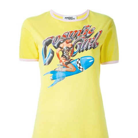 Pin-Up Girl Print T-Shirt