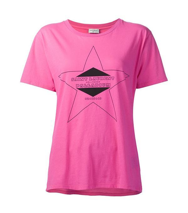 Logo Print T-Shirt by Saint Laurent