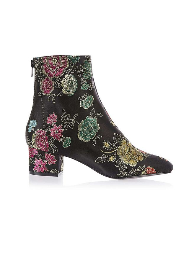 Topshop Kobra Embroidered Boots