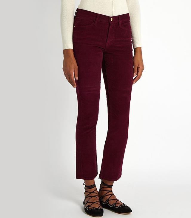 Frame Le High Straight-Leg Corduroy Trousers