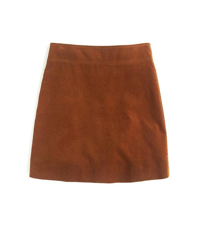 J.Crew Mini Skirt in Corduroy