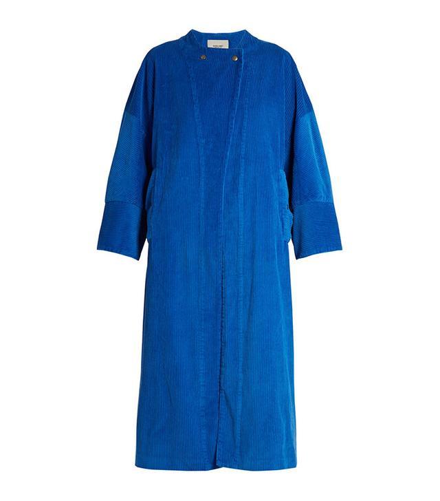 Rachel Comey Collarless Cotton-Corduroy Coat