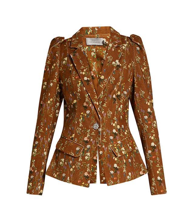 Preen By Thornton Bregazzi Lulu Floral-Print Corduroy Jacket