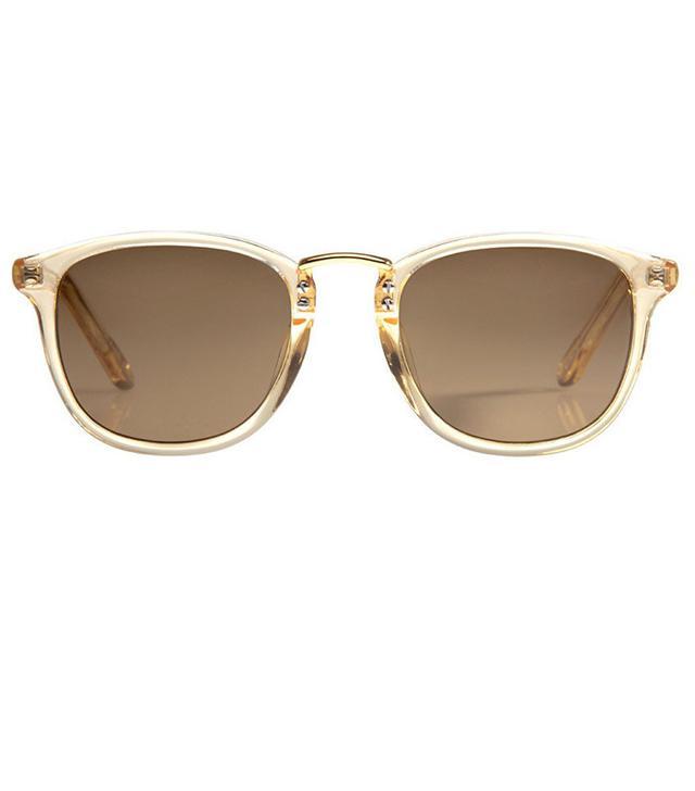 Krewe Franklin Champagne Polarized 24K Sunglasses