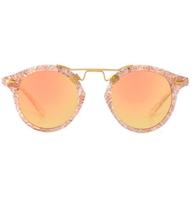 Krewe St. Louis Camellia 24K Sunglasses