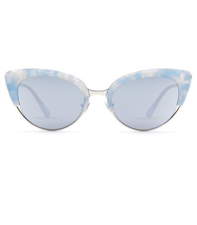 Krewe Josephine Matte Ciel Sunglasses