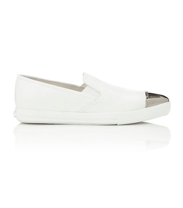 Miu Miu Metallic-Toe Sport Sneakers