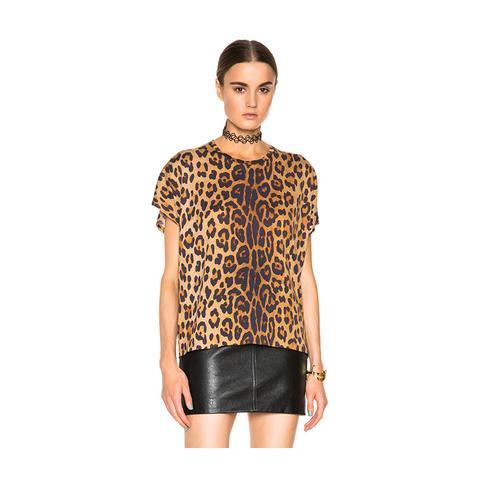 Leopard Print Oversize Tee