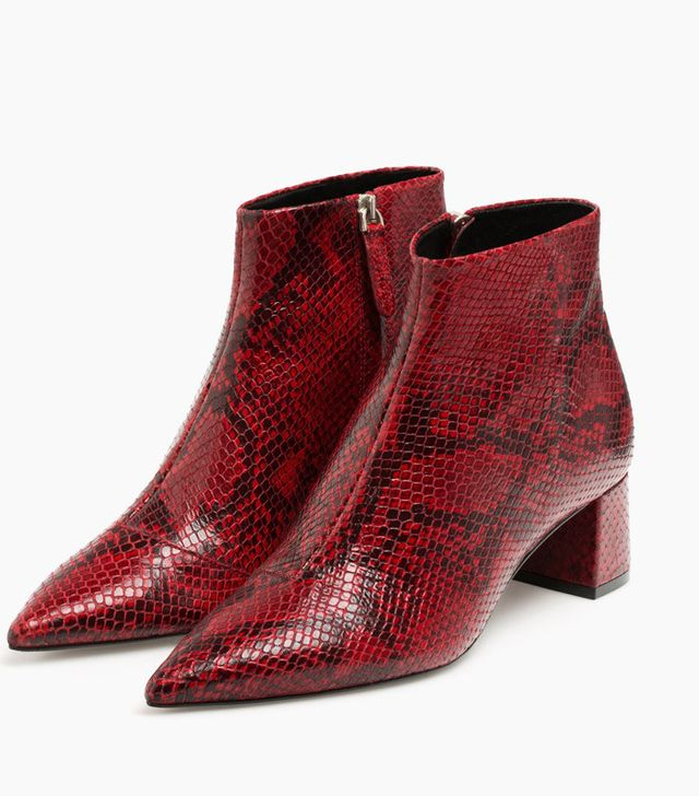 Uterque Snakeskin effect ankle boots