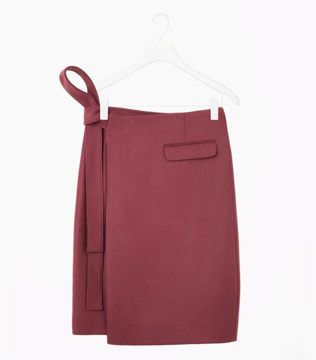 COS Rounded Wrap Skirt