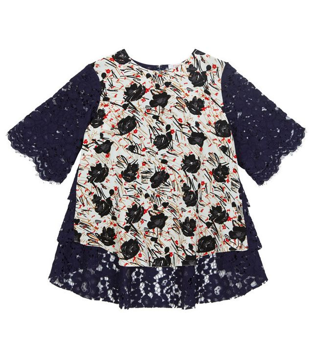Finery Selby Lace Black Tee