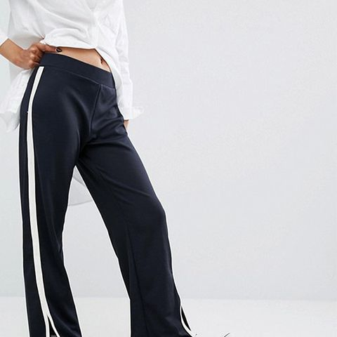 Slit Wide Leg Trouser