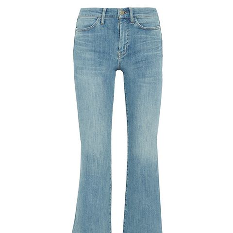 Lou Cropped Flared Jeans