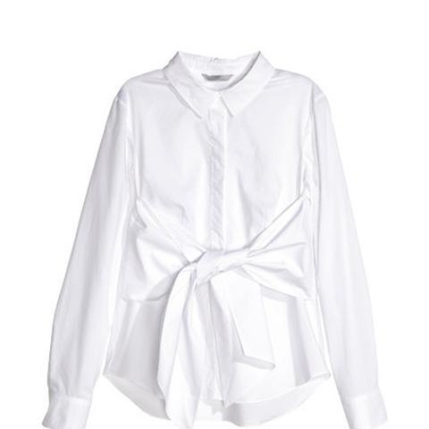 Cotton Tie-Front Shirt