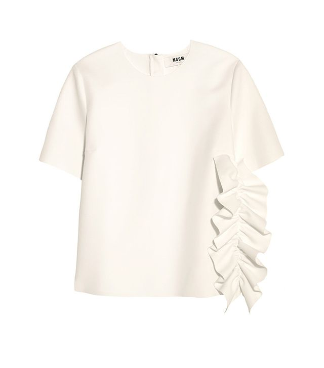 MSGM Ruffled Crepe Top