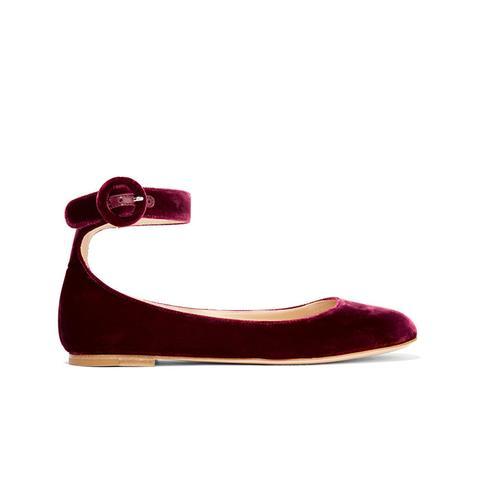 Velvet Ballet Flats