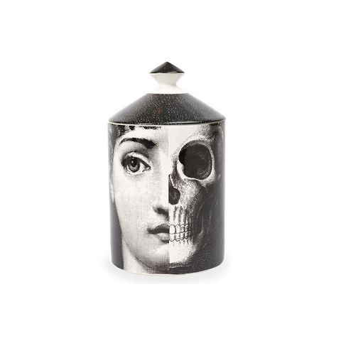 Face and Skull Print Candle