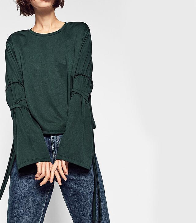 Zara T-Shirt with Sleeve Cords