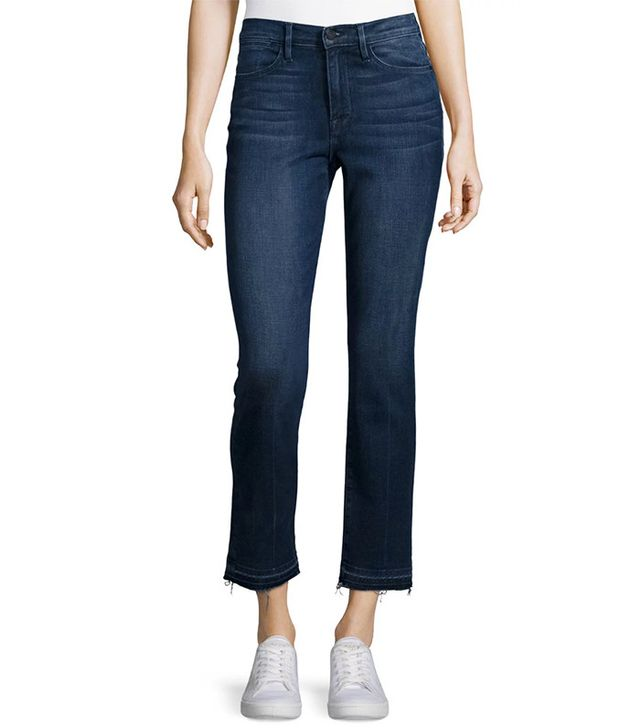 Frame Le High Straight-Leg Cropped Jeans with Released Hem